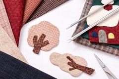 Aplikacj narzędzia dla tkaniny i szczegółu aplikacja Zdjęcia Stock