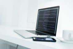 Aplikacja Sieciowa przedsiębiorcy budowlanego biurko Obraz Royalty Free