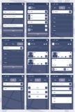 Aplikacja sieciowa szablon dla telefonów royalty ilustracja