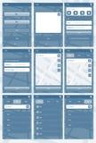 Aplikacja sieciowa szablon dla telefonów ilustracji