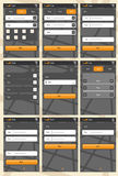 Aplikacja sieciowa szablon dla telefonów ilustracja wektor