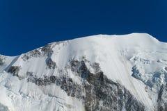 Apline dangerous glacier Stock Photography