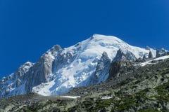 Apline dangerous glacier Royalty Free Stock Images