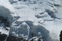 Apline dangerous glacier Stock Photos