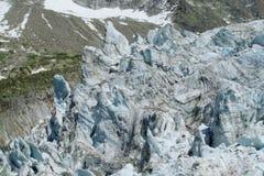Apline glacier blue ice Stock Photography