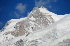 Apline glacier on Montblanc hiking route in Chamonix valley Stock Photos