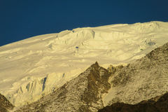 Apline glacier on Montblanc hiking route Stock Photography