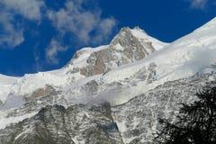 Apline glacier and peak Royalty Free Stock Photography