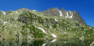 Apline green mountain valley in Chamonix Royalty Free Stock Photos