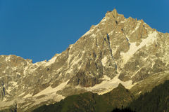 Apline peaks at Montblanc hiking route Royalty Free Stock Image