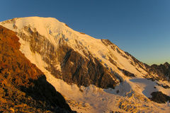 Apline peaks at Montblanc Royalty Free Stock Photography
