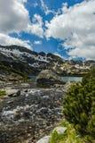 Apline See im fünf See-Tal in Tatra-Bergen, Polen Lizenzfreie Stockfotos