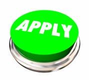 Aplique el botón Job Interview del uso ilustración del vector