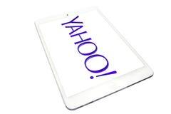 Aplique el iPad mini y logotipo de Yahoo Imagenes de archivo