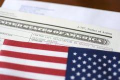 Aplique o cartão verde imagem de stock royalty free