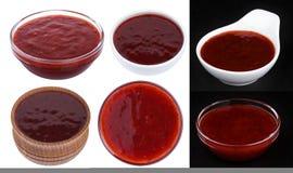 aplle αχλάδι μαρμελάδας καρπού Σάλτσα των βακκίνιων που απομονώνεται στο άσπρο υπόβαθρο Στοκ Φωτογραφίες