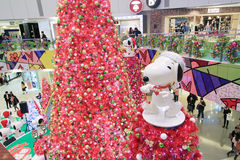 APM christmas Snoopy decoration in Hong Kong Stock Photography