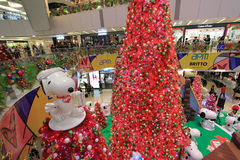 APM Snoopy christmas decoration in Hong Kong Stock Photo