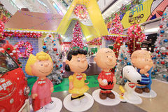 APM Snoopy christmas decoration in Hong Kong Stock Photography