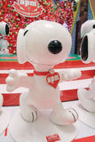 APM Snoopy christmas decoration in Hong Kong Royalty Free Stock Photography