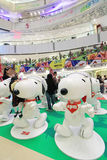 APM Snoopy christmas decoration in Hong Kong Stock Photos