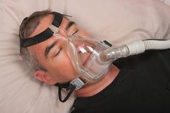 Apnéia do sono e CPAP Imagens de Stock Royalty Free