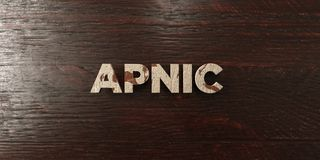Apnic - grungy wooden headline on Maple  - 3D rendered royalty free stock image Stock Photos