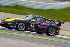 APO SportTeam Porsche 997 24 uren van Barcelona Stock Fotografie