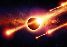 Apocalipse abstrato do espaço Imagem de Stock