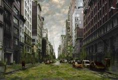 Apocalipsis de la ciudad Imagen de archivo libre de regalías