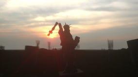 Apocalipsis de los E.E.U.U., América Vista aérea del New York City destruido, estatua de la libertad Concepto de la apocalipsis e almacen de metraje de vídeo