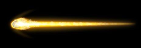 Apocalipsis del asteroide y de la tierra Foto de archivo