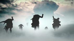 Apocalipsis del zombi almacen de metraje de vídeo