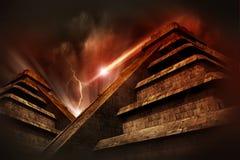 Apocalisse Mayan Fotografie Stock Libere da Diritti