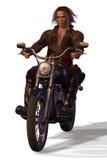 Apocalypse Biker. Biker from the Badlands; illustration, 3D, Poser Royalty Free Stock Photography
