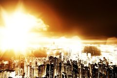 Apocalypse in the city Royalty Free Stock Images