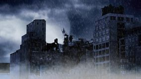 Apocalypse City in a Storm stock video footage