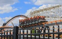 Apocalypse Coaster Six Flags Maryland Royalty Free Stock Images