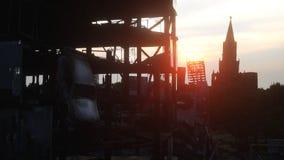 Apocalypse de la Russie Vue aérienne la ville détruite de Moscou Concept rendu 3d illustration stock