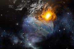 Apocalypse de photo de la terre illustration stock