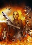 Apocalypse de robots Image libre de droits