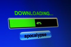 Apocalypse download. Close up of Apocalypse download Stock Image