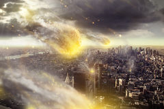 Apocalypse. The end of the world is coming stock photo