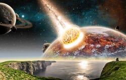 Apocalypse - extrémité de la terre du temps Photo stock