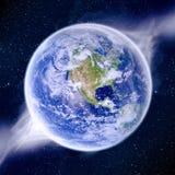 Apocalypse - extrémité de la terre du temps Photos libres de droits