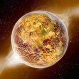 Apocalypse - extrémité de la terre du temps Image stock