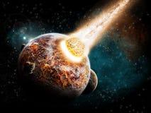 Apocalypse - extrémité de la terre du temps illustration de vecteur