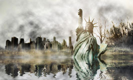 Apocalypse in New york Stock Photography