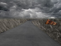 Apocalypse Now A. A dark and dramatic post-apocalyptic background scene Royalty Free Stock Image