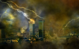 Apocalypse weather anomalies Stock Photo